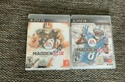 Ps3 Ea Sports Madden Nfl 12 And 13 Games Game Manual On Discs Pack Of 2
