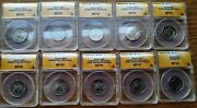 9 Hard To Find As A Set 2015-p Homestead Quarter Error Slabbed Coins - Anacs