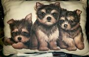 Yorkie Puppies Dog Breed Pillow