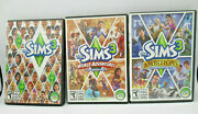 Lot Of 3 The Sims 3 Pc Game + Expansion Packs World Adventures , Ambitions Euc