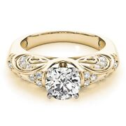 Ebay 0.60 Ct Real Diamond Engagement Band 14k Solid Yellow Gold Wedding Bands