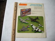 Lesney Matchbox 3 Color Plastic Aircraft Model Kits Color Advertising Page