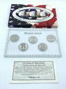 2000 Platinum Edition State Quarter Collections Ma Sc Nm Va Md 5 Coin Set