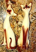 1960and039s Inarco Siamese Cat Couple Figurines- How Sweet