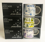 Set Of 3 Disney Star Wars Starbucks Been There 2020 Mugs Hoth Bespin Dagobah New