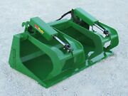 60andprime Compact Tractor Solid Bottom Bucket Grapple Fits John Deere Tractor Loader