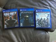 Bundlecall Of Duty Black Ops Iii Injustice 2 Assassins Creed Unity Sony Ps4
