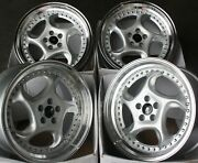 18 Silver Dare F6 Alloy Wheels Fits Bmw E34 E39 E60 E61 F11 F10 5 6 7 8 Series