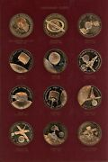 Set Of 36 Bronze Proof America In Space Medals - Franklin Mint