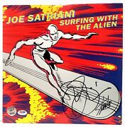 Stan Lee And Joe Satriani Signed Marvel Surfing With The Alien Album Lp Psa/dna