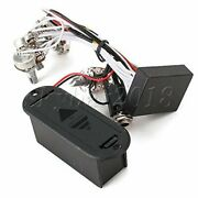 2 Band Active Guitar Eq Preamp Circuit Pickup Black 1v3t Pots For Bass Pickup