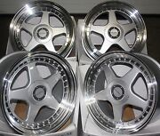 18 Silver F5 Alloy Wheels Fits Bmw E34 E39 E60 E61 F11 F10 5 6 7 8 Series