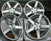 19 Silver Cc-q Alloy Wheels Fits Bmw 8 Series E31 Coupe Old Skool Wider Rear