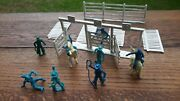 Marx Roy Rogers Cowboy Corral Ranch Rodeo Lot Figures Western Playset
