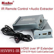 Hdmi Extender 150m Extension Ir Remote Over Ethernet Ip Tcp Receiver Rx Rj45