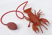 1950's Dime Store Rubber Pneumatic Crayfish Crawfish Lobster Working Toy Ft