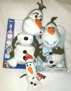 Disney Olaf Frozen Bundle Plush Pull Apart Light Up Bow And Ty Olaf A 65+ Value
