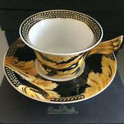 Authentic Versace Rosenthal 25 Years Les Vanity Tea Cup And Saucer See More Ag