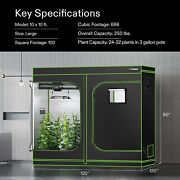 Vivosun 120x120x80 Mylar Hydroponic Grow Tent For Indoor Plant Growing 10x10and039