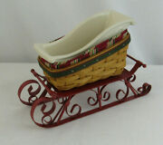 Longaberger 2007 Holiday Helper Sleigh Basket Combo W/ Runners And Sleigh Dish