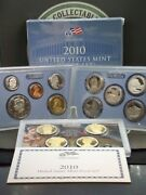 2010 S U.s. Clad Proof Set Box And Coa 14 Coin East Coast Coin And Collectbales