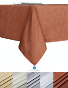 Kate Aurora Textured Spill Proof Fabric Tablecloth - Assorted Colors And Sizes