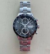 Tag Heuer Carrera Caliber 16 Chronograph Day Date Wrist Watch For Men