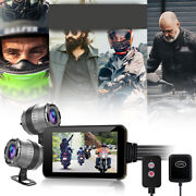 Motorcycle General Dash Cam Wifi Fhd Front Rear View Camera Gps Logger Recorder
