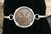 Shipwreck Treasure Coin Admiral Gardner Bracelet Sterling Silver Authentic X