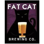 Framed Fat Cat Brewing Beer By Ryan Fowler 14x11 Advertisements Vintage Ads Fa