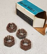 4 Genuine Gm Front Wheel Bearing Spindle Nut 379656.nos In Box Oem Part