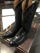 Lucchese Boots Classics Handmade Size 7b Crocodile Caiman Tail Style L1216