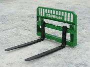 48 4000 Lb Pallet Fork Attachment For John Deere Tractor Fits 200 300 400 500