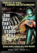 Framed The Day The Earth Stood Still 1951 36x24 Science Fiction Movie Poster