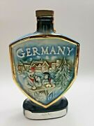 Vintage 1970 Jim Beam Whiskey Bottle Decanter Germany Collectible Gift 11.5