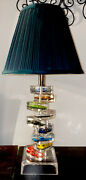 Vintage Lucite Matchbox/hot Wheels Like Cars9table Lamp-1980andrsquo-highly Collectib