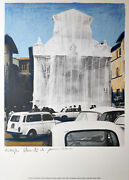 Christo Et Jeanne Claude - Wrapped Fountain Spoleto - Hand Signed / Numbered