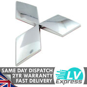 Chrome Curved Diamond Badge Tailgate Boot 125x110mm Compatible With L200
