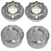 Fits 2005-2016 Ford F-350 F350 Dually 4x4 Front Rear Chrome Center Caps Set Of 4