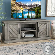 Fireplace Tv Stand 60 Rustic Gray Wood Media Console Entertainment Center Pine
