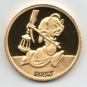 Disney Rarities Mint 1 Oz 999 Gold Dopey From Snow White's 50th Anniversary.