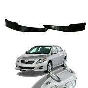 For 2009 2010 Toyota Corolla Front Bumper Sport Splitter Lips Spoiler Kit 2pc
