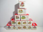 Lot Of 14 Liberty Falls Village/the Americana Collection Pieces + Original Boxes