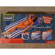 Comfy Floats Sun Bed Large Swimming Pool Float Lounger Memory Foam No Air 65 In