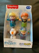 Hot Toy Nib Fisher-price Little People Disney Frozen Elsa And Friends 4 Pack