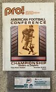 1972 Afc Championship Miami Dolphins Vs Pittsburgh Steelers Program And Ticket Nfl