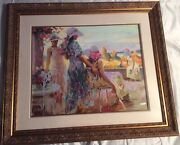 Pino Andldquoone The Terraceandrdquo Numbered And Signed 200/295 Matted And Framed W/ Coa