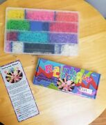 Rainbow Loom Rubber Band Bracelet Making Kit And Storage Box And Dance Charm