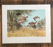 """Ned Smith Dixie """" Upland Limited Edition Art Print 1983 Signed 188/600"""