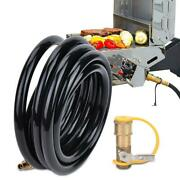 20 Ft Quick Connect Rv Propane Gas Tank Hose 1/4in Rv Quick Connector Adapter Us